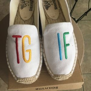 Soludos TGIF Embroidered shoes Size 5